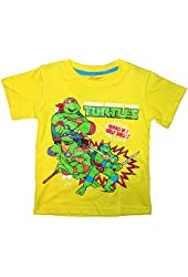 Nickelodeon TMNT Little Toddler Boys Heros in a Half Shell! Tee T-Shirt