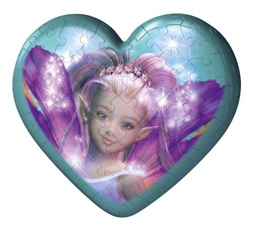 Fairies Hearts 60 Piece Puzzleball - Green Heart