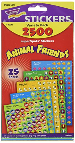 Trend Enterprises Superspots & Supershapes Variety Pack, Animal Friends (T-46915)
