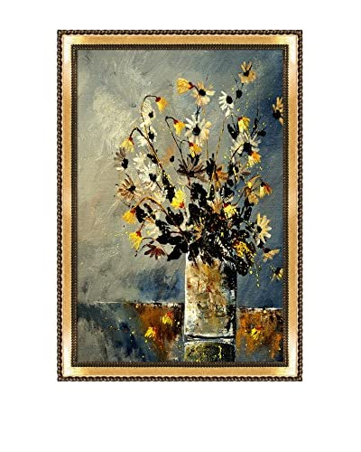 "Pol Ledent ""Still Life 4521"" Framed Canvas Print"