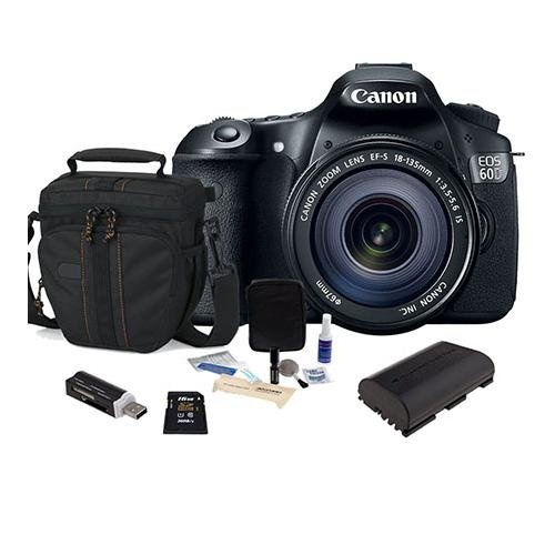 Canon Eos 60D Dslr Camera / Lens Kit, Black With Canon Ef 18-135Mm Is Lens - U.S.A. Warranty - 2 4Gb Sdhc Memory Cards (Total Of 8Gb), Camera Bag, Spare Lp E6 Battery. Usb 2.0 Sd Card Reader - Free: Red Giant Adorama Production Bundle For Pc/Mac A $599.00