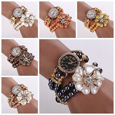 Fenkoo orologi donne Dess orologi da donna della moda di lusso perla braccialetto di vigilanza delle donne calde di vendita di orologi di marca