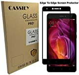 #8: Cassiey 3D Edge To Edge Full Front Body Cover Tempered Full Glass Screen Protector Guard For Xiaomi Redmi Note 4 ,Black
