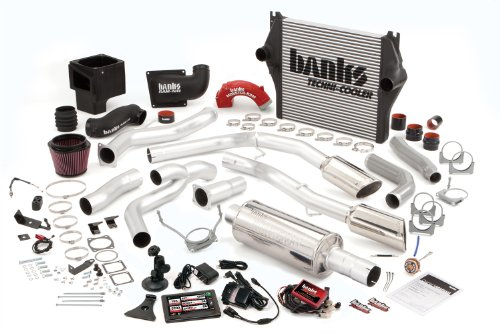 Banks Power 49751 Big Hoss Bundle; Performance System; Incl. Six-Gun Diesel Tuner/Banks iQ/Banks Ram-Air Intake/Techni-Cooler Intercooler/Monster Exhaust; Duals;