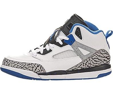 Air Jordan Spiz'ike (Preschool) - White / Sport Blue-Black-Wolf Grey, 1 M US