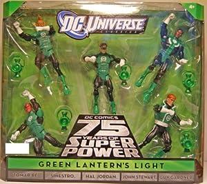 DC Universe Classics Exclusive Green Lanterns Light Action Figure 5Pack Tomar Re, Sinestro, Hal Jordan, John Stewart Guy Gardner by Mattel