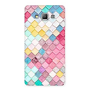 Special Rock Pattern Multicolor Back Case Cover for Galaxy A7
