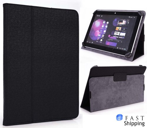 Kroo Black Universal Book Style Cover Case