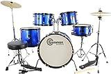 Gammon 5-Piece Junior Starter Drum Set Metallic Blue Childrens Picture