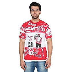 Trenders Round Neck Red Color T Shirt with Music print