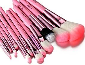 Glow rose professionnel 12 lot pinceaux maquillage trousse en cas exquisge Brush Set