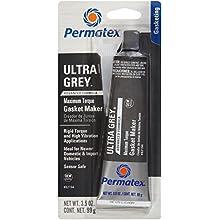 Permatex 82194-12PK Ultra Grey Rigid High-Torque RTV Silicone Gasket Maker, 3.5 oz. (Pack of 12)