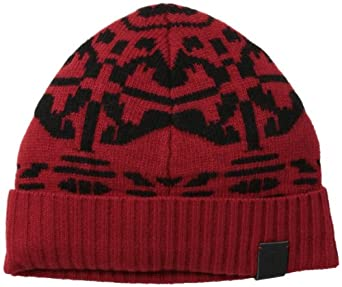 Victorinox Men's Light Wool Nylon Jacquard Hat, Ibach Red, One Size