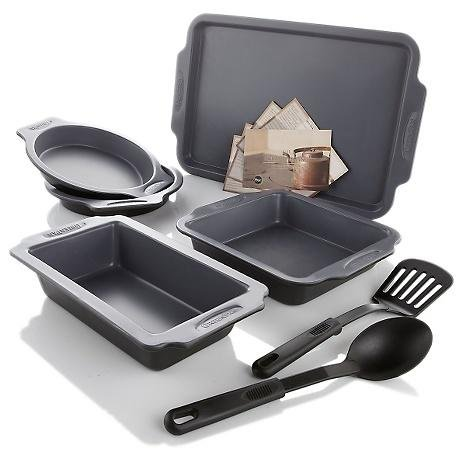 Greenpan Carbon Steel 7pc Holiday Bakeware Set