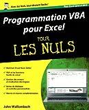 echange, troc John WALKENBACH - Programmation VBA pour Excel 2010 et 2013 Pour les Nuls