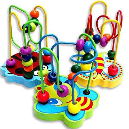 Giocattoli per Bambini ,Ouneed® Giocattoli di Educativi,Children Baby Kids Learning Developmental Perle Tonde Giocattolo Educativo del Gioco di Legno, Multicolore