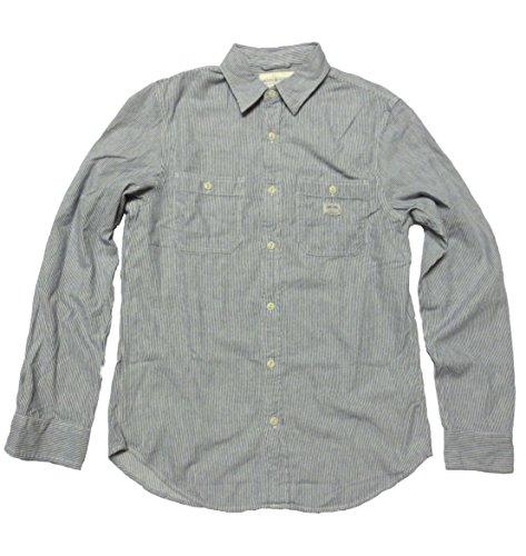 Ralph Lauren Denim & Supply Men'S Long Sleeve Work Shirt (Large, Blue Stripe) front-1044730