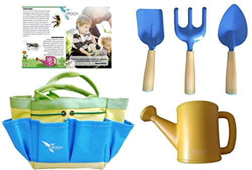 Kids Gardening Tools, Learning Toys for Outdoors by ROCA Home, Best Gardening and Learning Toys for Kids