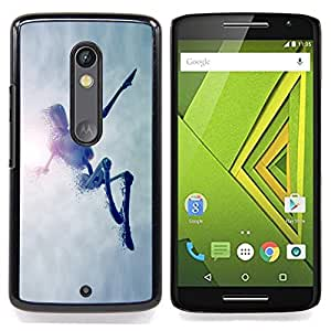 Omega Covers - Snap on Hard Back Case Cover Shell FOR MOTOROLA MOTO X PLAY - Jumping Robot