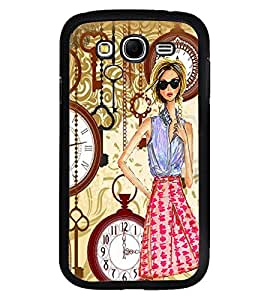 Fuson Premium Clock N Key Metal Printed with Hard Plastic Back Case Cover for Samsung Galaxy Grand Neo Plus GTi9060i