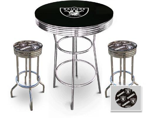 Raiders coffee tables oakland raiders coffee table for Football coffee table