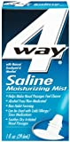 4 Way Saline Moisturizing Mist, Natural Eucalyptol & Menthol, 1-Ounce Spray Bottles (Pack of 6)