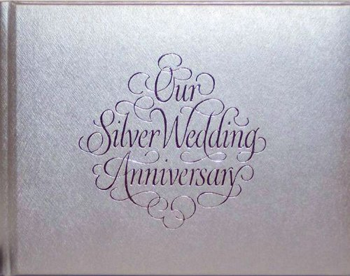 25th Wedding Anniversary Gift List : 25th Silver Wedding Anniversary Gift Guest Registry Album Book Feature