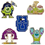 Disney Store Monsters University Oozma Kappa Pin Set: Limited Edition (300) includes Sulley, Mike Wazowski, Art, Terry & Terri, Squishy, Don and Logo
