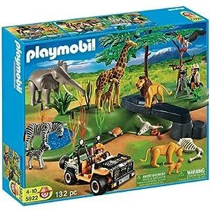 Playmobil animaux de la savane 5922 set geant safari elephant voiture lion - Playmobile savane ...