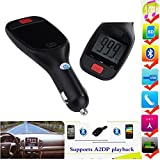 VersionTech Bluetooth Handsfree Car Kit FM Transmitter MP3 Player with USB Connection and Micro SD/TF card Reader Slot For iPhone 6 iPhone 6 Plus 5S 5C 5 4S, iPad Air 2 1 iPad Mini 2 iPod Touch 8 7 6 5, Samsung Galaxy S3 S4 S5 Note 2 3, HTC One M7 M8, Sony Xperia L39h, L36h Z1 Z2, LG G Pro 2, Nokia Lumia 920 1020 1520, Blackberry Z10 Z30 Q10 and all Bluetooth Devices