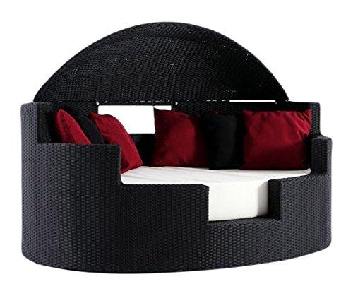 Outflexx Gartenmöbel Set, Sea Shell Polyrattan w1, schwarz günstig online kaufen