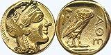 """Griego dioses y diosas Collection #77 G, ATHENA y búho,""""marca de ATHENA"""" versión 2"""