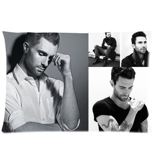 Adam Levine Pillowcase Custom Throw Pillow cover 16x24 Zippered Pillow Case Two Sides Picture Printed Soft Cotton Comfortable