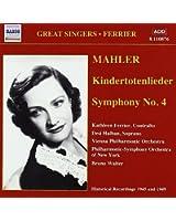 Mahler : Kindertotenlieder ; Symphonie n° 4