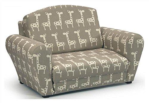 Stretch Maple/Natural Sleepover Sofa with Giraffe Print
