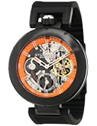 Stuhrling Original Men's 324.335657 Sportsman Emperor VT Automatic Skeleton Dual Time Black Watch