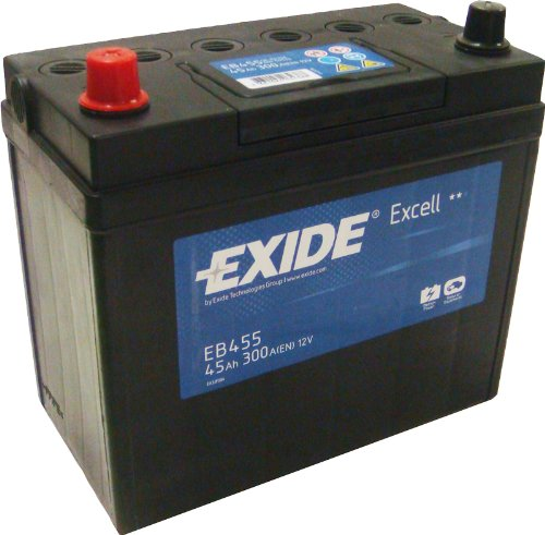 Exide Excell EB455 45Ah Autobatterie wartungsfrei