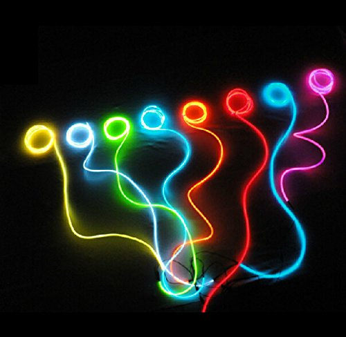 15Ft Light Blue Neon Glowing Strobing Electroluminescent Wire?