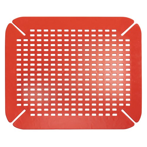 interdesign sinkworks kitchen contour sink protector mat red 081492590644. Black Bedroom Furniture Sets. Home Design Ideas