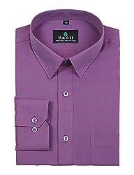 Basil Men's Poly Cotton Formal Shirt (BA380PLC50FSF-42, Purple, 42)