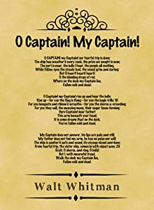 o captain my captain analysis essay Free essay: the poem basically tells a story about the death of the captain of a ship men crew the speaker of the poem is a sailor of the ship crew he.