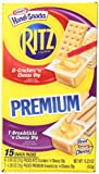 Ritz Crackers, American Cheese Dip Variety Pack, 15.23 Ounce Box (Pack of 4)