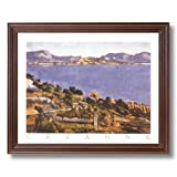 Paul Cezanne French Landscape Lake Tree Landscape Home Decor Wall Picture Cherry Framed Art Print