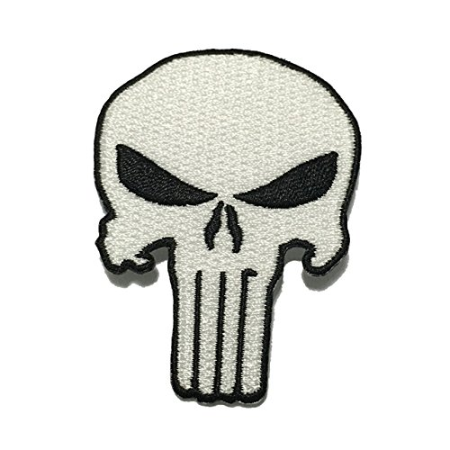Punisher patch marvels classic skull applique embroidered sew iron punisher patch marvels classic skull applique embroidered sew iron on patch clothing shirts pants novelty iron on with heat or sew on decorate bags urtaz Gallery