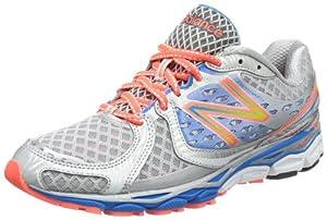 New Balance  W1080 B, Chaussures de running femme - Argent - Silber (BC3 SILVER/BLUE 16), 40.5 EU