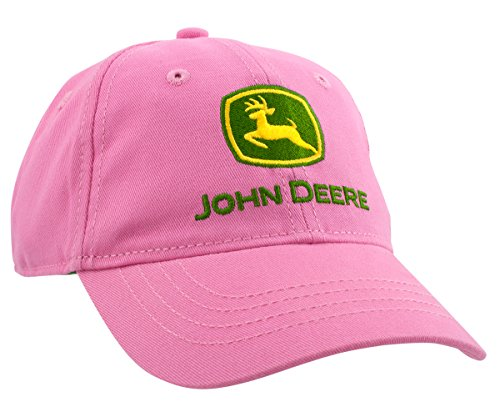 John Deere Little Girls Toddler Trademark Baseball Cap, Pink, Toddler