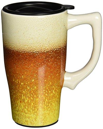 Spoontiques Beer Travel Mug, Gold