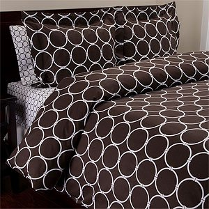 Chain 240TC Cotton Duvet Set, Full/Queen, Brown