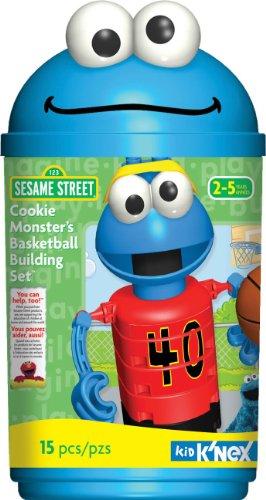 K'NEX Sesame Street Building Set: Cookie Monster's Basketball - 1