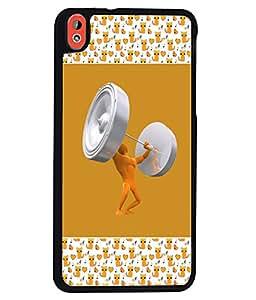 PrintVisa Metal Printed Crazy Designer Back Case Cover for HTC Desire 816/ 816G Dual sim -D4735